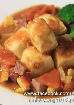 綠咖哩炸豆腐蔬食