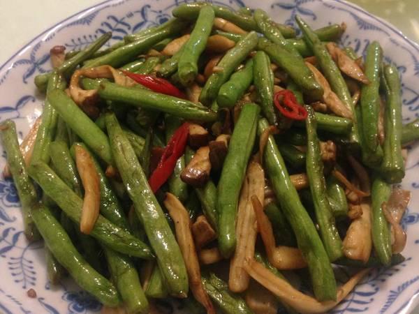 乾煸四季豆杏鮑菇