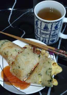 蔬果蔥油餅