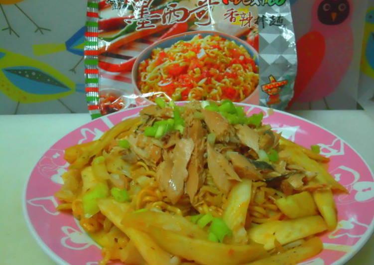 【味王泡麵創意秀】[味王泡麵創意秀] 鮭魚香辣拌麵