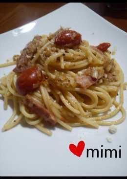 蒜味番茄培根義大利麵