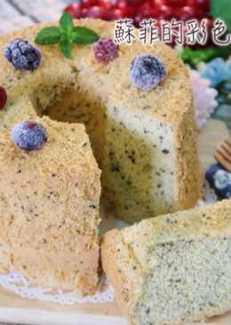 黑芝麻戚風蛋糕 低甜度,無泡打粉,無奶