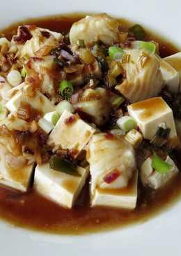 [蒸鱈魚豆腐]電鍋版 簡易家常菜