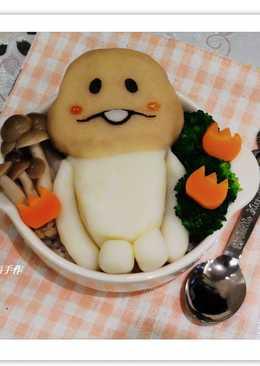 【可愛方吉菇菇餐】
