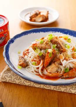 【家樂福食譜】茄汁鯖魚乾拌麵