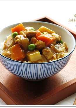 [白醬咖哩雞肉蓋飯]簡易快速家常菜