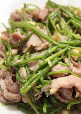 【厚生廚房】水蓮炒肉絲