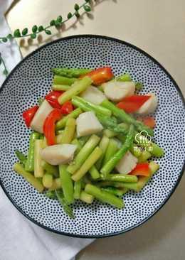 酒香干貝炒蘆筍