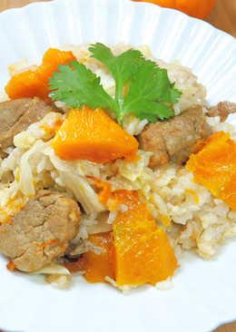 高麗菜南瓜豬肉炊飯