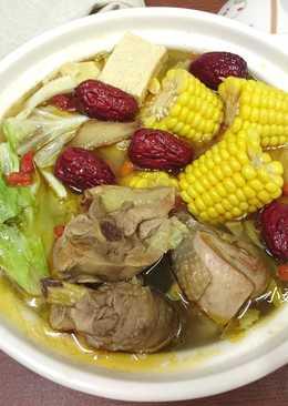 玉米麻油雞湯