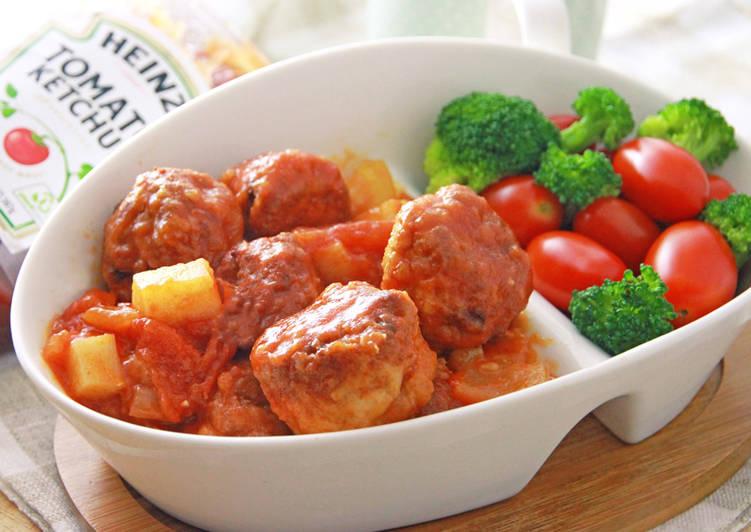 [亨氏番茄醬][亨氏番茄醬]茄汁燴山藥豆腐雞肉丸