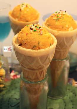 冰淇淋甜筒沙拉