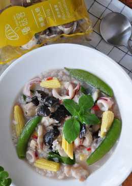 塔香蒜味雜食蠔菇粥