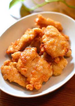超簡單的日式炸雞(簡単♪やわらかい鶏むね唐揚げ)