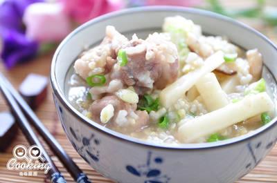 鮮筍香菇排骨養生粥【我與大同的美味料理】