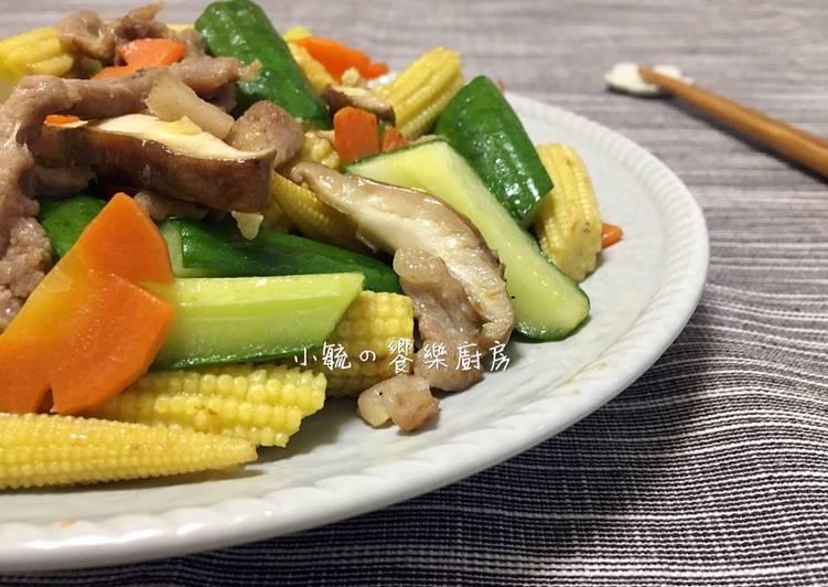鮮蔬炒肉絲