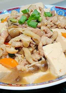 菇菇肉絲燴豆腐