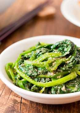 【影片】日式簡易前菜 - 涼拌芝麻菠菜