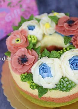 韓式豆沙擠花蛋糕攻略~三色戚風蛋糕