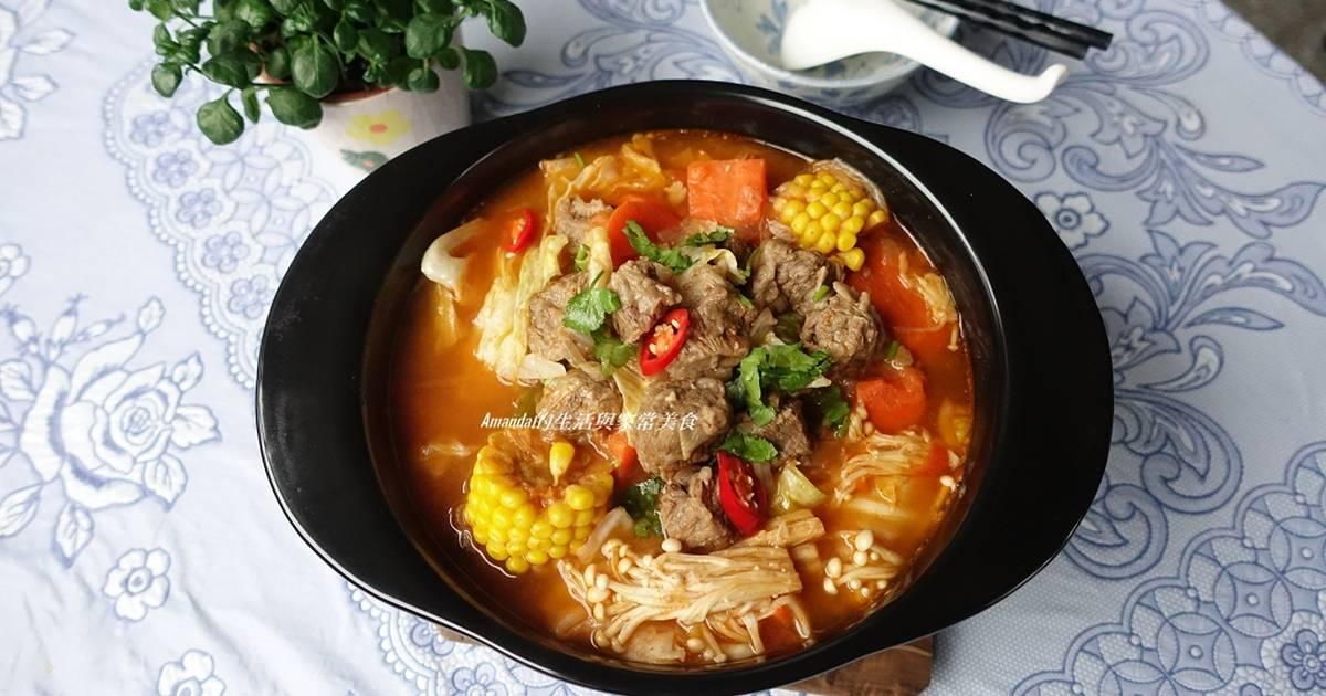 牛肉蔬菜香辣鍋-禦寒補血健康鍋食譜 by Amanda生活美食料理