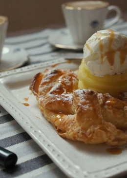 焦糖冰淇淋蘋果派