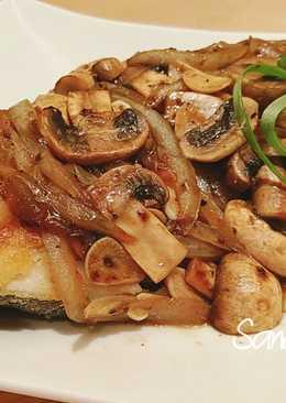 黑胡椒鱈魚(鐵板燒)