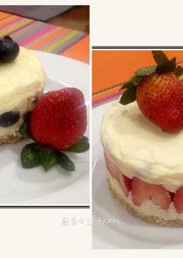 免烤箱白巧克力草莓(藍莓)起司蛋糕