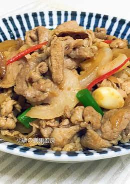 蒜香味噌豬肉片