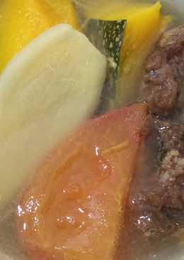 南瓜蕃茄排骨酥湯-電鍋料理