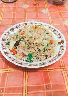 營養火腿蔬食炒飯