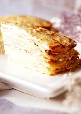 免烤箱就能完成不甜不膩的千層乳酪蛋糕 。忙碌的媽媽也能忙裡偷空完成的可口點心 ♥