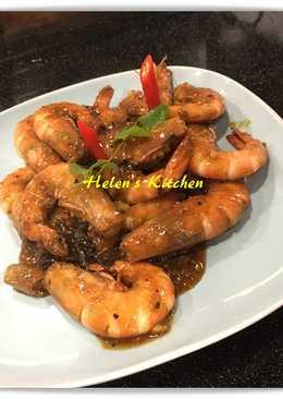 新加坡黑胡椒蝦