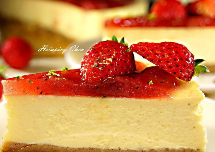 紐約經典重乳酪-草莓起司蛋糕