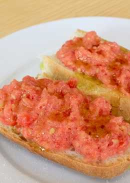 Pan con Tomate番茄配麵包(冷壓初榨橄欖油食譜)