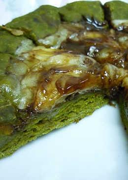 [平底鍋] 地瓜芝心~巧克力香蕉抹茶Pizza