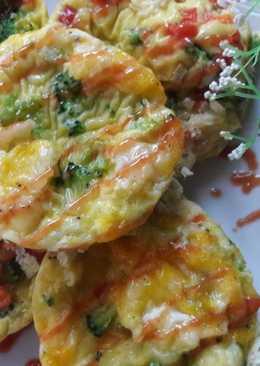 營養早餐 ~ 蔬菜蛋杯 - veggie egg muffin