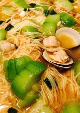 蛤蜊絲瓜麻油麵線