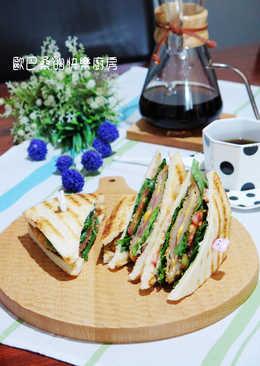 藍帶豬排三明治