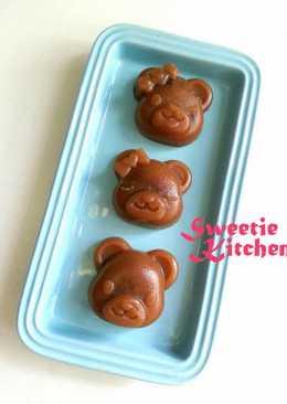 小熊造型紅豆缽仔糕