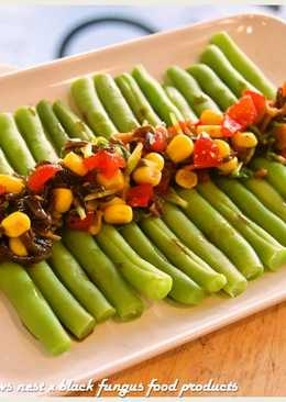 黑木耳玉米番茄醬佐四季豆.柯媽媽植物燕窩
