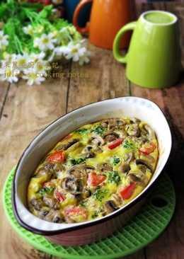 [蘑菇烤蛋]簡易家常菜