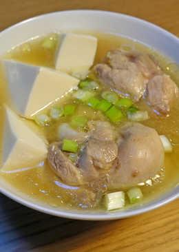 味噌豆腐雞湯