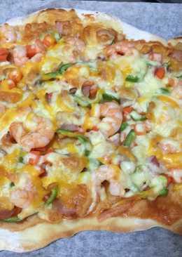 鮮蝦培根披薩