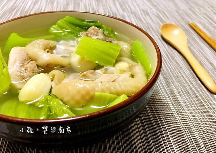芥菜蒜頭雞湯 【電鍋料理】