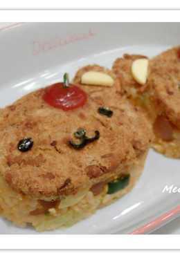 【親子食堂】可愛小熊肉鬆炒飯