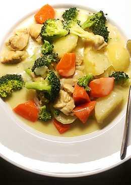 奶油玉米白醬燉菜。