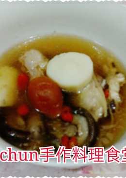 山藥琵琶燉雞湯