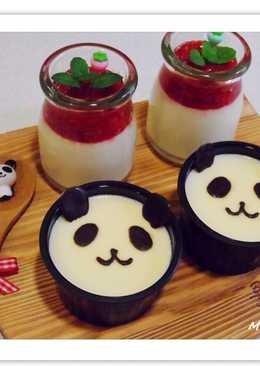 【草莓&巧克力貓熊鮮奶酪】