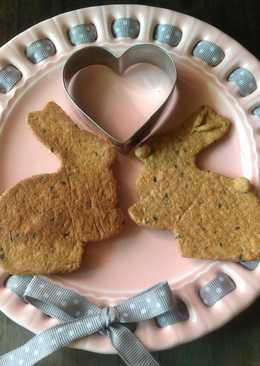 Easter Bunny Okara Sesame Cookies-手工有機黑芝麻豆渣復活節兔子餅乾❤!!!