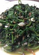 蝦醬空心菜/地瓜葉/高麗菜 Fried Greens with Shrimp Paste